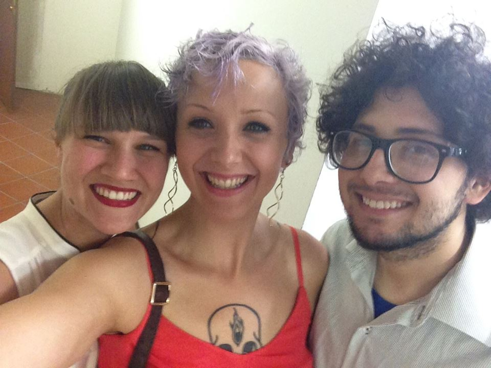 SARAH AND MADDY AND LUIS RAMIREZ Ł CUTZA  PRE-CONCERT SELFIE in Italy.