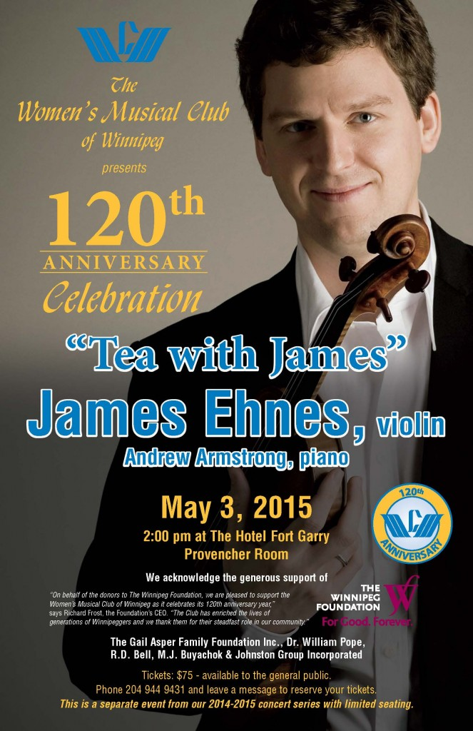 James Ehnes 120th Anniversary Poster