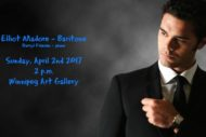 CBC Radio 2 – broadcasting our April 2nd 2017 concert featuring Elliot Madore – baritone!
